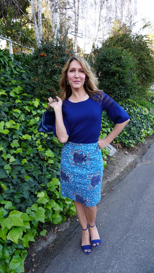Two Ways To Style A Pretty Bold Blue Top