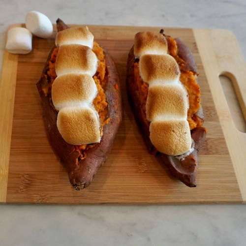 Thanksgiving side dish twice baked yams